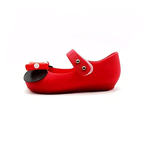 623c95c89224f Girls Sweet Mary Jane Flat Princess Sandals Jelly Shoes Toddler Kids Bow  Tie with Dots Holiday Christmas Red