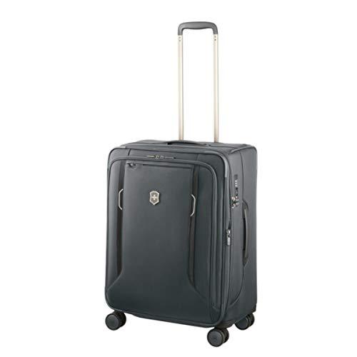 Victorinox Werks Traveler 6.0 Medium Softside Spinner Suitcase, 24-Inch, Grey (Best 24 Inch Suitcase)