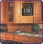 Omega National Products Appliance Garage Straight - Veneer Door Maple 18