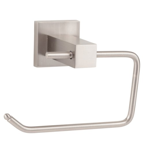 Sure-Loc Hardware BD-PH1 15 Baden Single-Post Paper Holder, Satin Nickel - Satin Nickel Single Post Mount