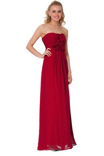 SEXYHER Gorgeous Encuadre de cuerpo entero sin tirantes de las damas de honor vestido de noche formal - EDJ1440 Escarlata