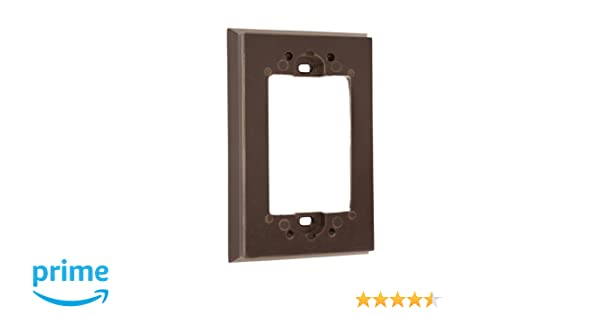 Leviton 6197 Shallow Wallbox Extender for Decora/GFCI Device, Brown - Electrical Outlet Boxes - Amazon.com
