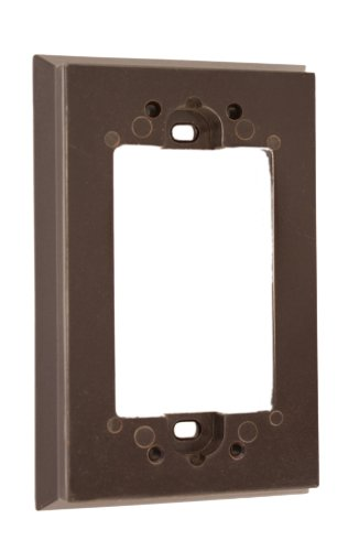 Leviton 6197 Shallow Wallbox Extender for Decora/GFCI Device, Brown