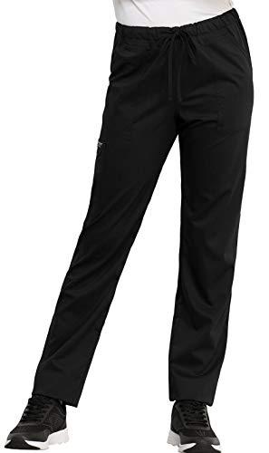 Cherokee WW Revolution WW020 Unisex Tapered Leg Drawstring Pant Black XL ()