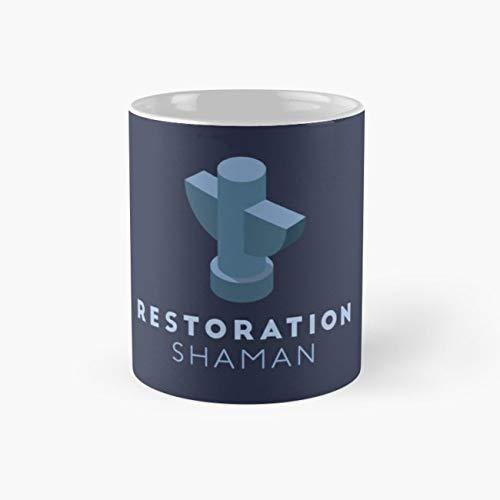 Buy Mage Knight - gocontigo - WoW Brand - Restoration Shaman Mug 11 Oz White Ceramic