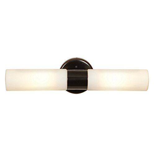 (Cobalt  - 2-Light Wall Sconce - Oil Rubbed Bronze Finish - Opal Glass Shade)