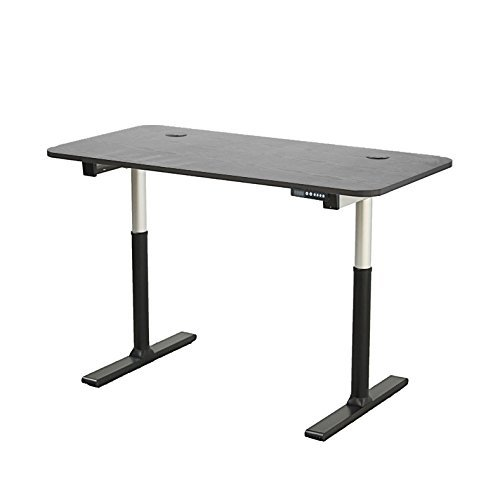 "ApexDesk Vortex Series 60"" 6-button Electric Height Adjustable Sit to Stand Desk (Base + Black Top)"