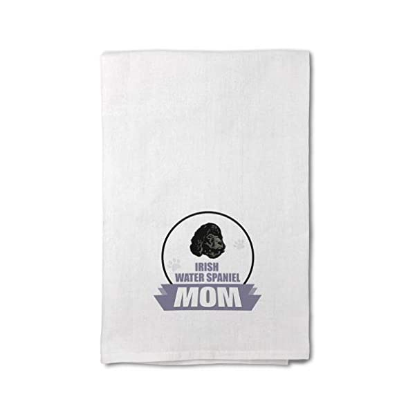 Style In Print Custom Decor Flour Kitchen Towels Mom Irish Water Spaniel Dog Pets Dogs Cleaning Supplies Dish Towels Design Only 1