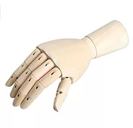 12Inch Male Wooden Articulated Right Hand Manikin Model Gift Art Accessories for Men by Glamorway