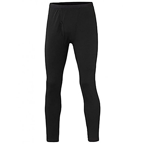 (Terramar Men's Polypropylene Lightweight Mesh Knit Pants, Black, Tall Medium (32