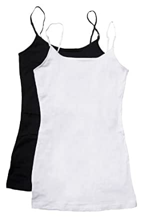Zenana Women's Tank Top Camisole with Built in Bra and Adjustable Straps