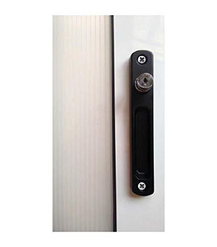 Cierre ventana sobreponer c/llave pulsador (negro) FERPASA