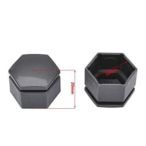 W-Nuan-Jun Color : Black 20pcs 22mm Car Wheel Hub Screw Cover Wheel Nut Bolt Cover Cap Protective Bolt Caps Hub Screw Protector Car Styling