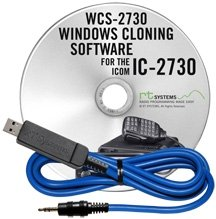 RT Systems Original WCS-2730 USB Software (Version 5.0) and USB Programming Cable (USB-29A) for the IC-2730