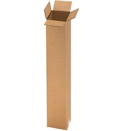 25 Boxes - 6x6x48 Tall Corrugated Cardboard Shipping - Hat Shipping Box