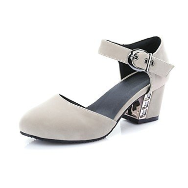 Heel D'Orsay Beige Shoes CN34 Women'S Dress amp;Amp; Piece Zormey Blue US5 Chunky amp;Amp; Two UK3 Red Pink Career Casual EU35 Heels Office IxqtTB5