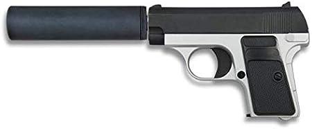 Golden Eagle Pistola Airsoft Aire Suave Metal Mixta Potencia 0,46 Julios 223 fps Airsoft Replica Paintball Caza Supervivencia tactico Senderismo Camping Outdoor 35721 + Portabotellas de regalo