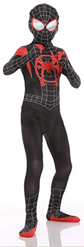 RONGANDHE Kids Spider Superhero Bodysuit Halloween Cosplay Costumes Zentai Tights Miles 120-130cm(47.2-51.2inch)]()