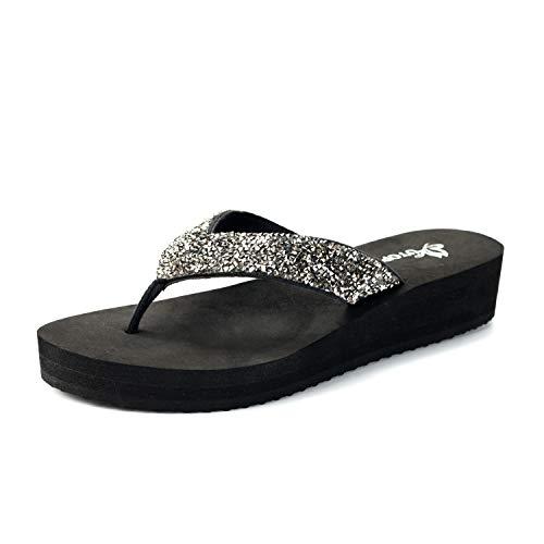 31d7c2be6001 Nova Utopia Women s Casual Summer Flip-Flop Wedge Sandals