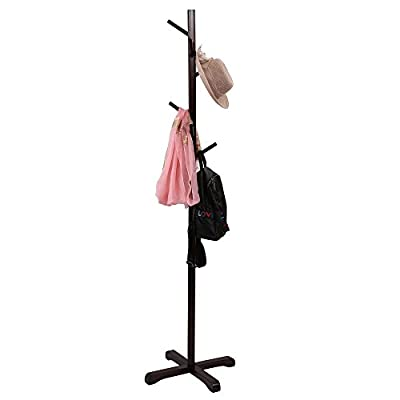 maxgoods Coat Rack Free Standing Modern DIY Heavy Duty Entryway Wooden Clothing Rack Hat Corner Hall Umbrella Stand Tree for Bedroom Living Room Office,Easy Assemble (Size 7) -  - entryway-furniture-decor, entryway-laundry-room, coat-racks - 31UD0YgHcLL. SS400  -