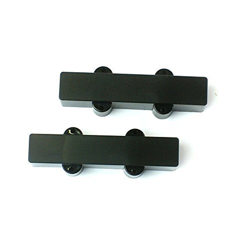 Replacement 1 set of Jazz Bass JB style bass Guitar Pickup cover No hole ,BLACK