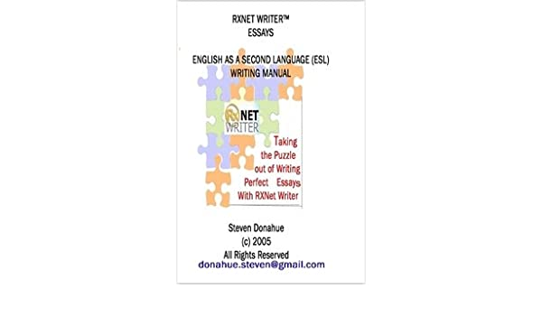 Rxnet Writer Essays English As A Second Language Esl Writing  Rxnet Writer Essays English As A Second Language Esl Writing Manual  Paperback  May