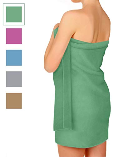 Microfiber Towel for Travel, Beach, Bath, Gym, Camping - XL Extra Large but Compact, Antibacterial and Quick Dry with Small Carry Pouch (Green, 70 x 39 Inches)