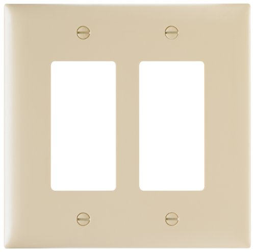 (Legrand - Pass & Seymour TPJ262ICC10 Trade Master Jumbo Wall Plate with Two Decorator Openings, Two Gang, Ivory)