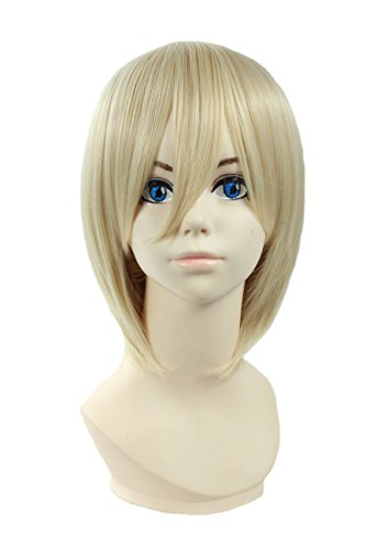 Angelaicos Lolita Harajuku Style Halloweeen Anime Cosplay Party Costume Full Wigs (Blonde Lolita Adult Wig)