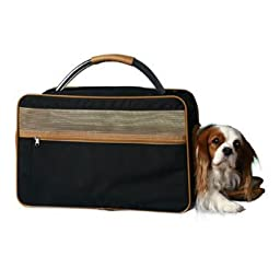 Bark-n-Bag Nylon Classic Carrier Collection Pet Carrier, Small, Black/Tan