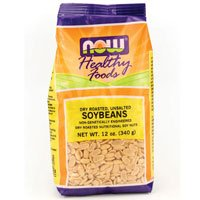 Soybeans Dry-Roasted, Unsalted 12 oz by Now Foods (Pack of 3)