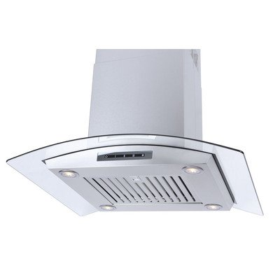 """Windster 30"""" Convertible Range Hood Stainless steel and glass WS-68N30SS"""