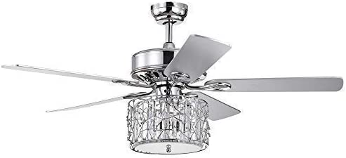 Wolland 52 Modern LED Crystal Ceiling Fan