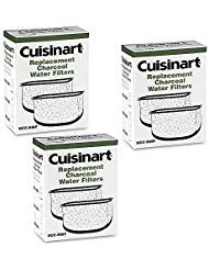 Cuisinart DCC-RWF *Triple Pack* Charcoal Water Filters in Cuisinart DCC-RWF Retail Box -