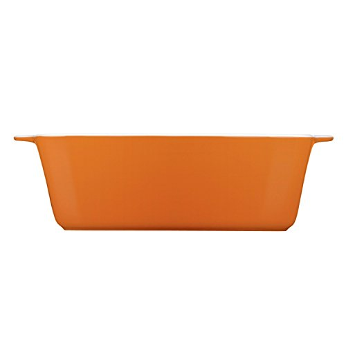 Mario Batali by Dansk 833717 Stoneware Loaf Pan, 10 by 5-Inch, Persimmon