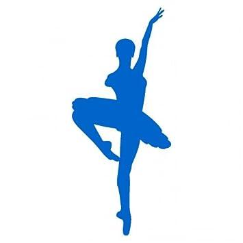 plot4u Ballerina Aufkleber in 8 Größen und 25 Farben (6,5x15cm ...
