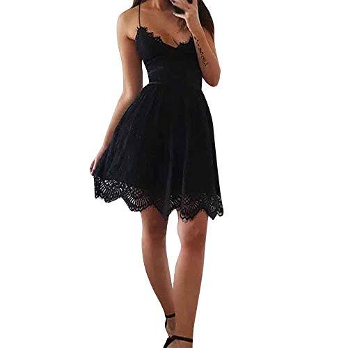 Vestido sin Mangas del Vendaje del cóctel de Bodycon del cordón de Las Mujeres Vestidos del Vendaje Negro