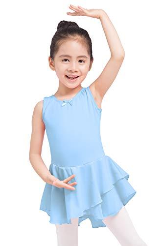Skirted Top - Dancina Girls Tank Top Skirted Leotard Ballet Dance Dress 5 Light Blue