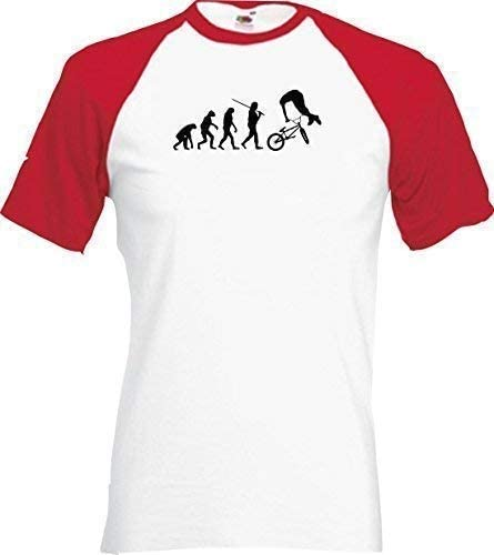 shirtinstyle Raglan Camiseta Evolution BMX FreeStyle engaños ...