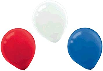 Party Decor Round Latex Balloons 16 Ct. Bright Royal Blue