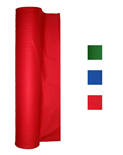 Cotton Backed Performance Grade Pool Table Felt - Billiard Cloth - for 7, 8 or 9 Foot Table Choose English Green, Blue or Red (Red, for 8 Foot Table)
