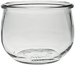 als Vorspeisenglas 6 x kleines Weckglas//Einmachglas 500 ml mit Deckel in in Tulpenform leeres Rundrandglas zum Einkochen Dessertglas Viva Haushaltswaren inkl. Klammern, Ringen /& Trichter