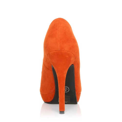 682f9c15eb27b ... EVE - Chaussures à talons hauts - Plateforme - Orange - Effet daim ...