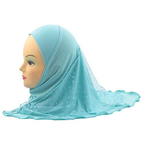 (Cogongrass Girls Muslim Hijab Islamic Scarf Shawls Lace Snow Pattern US Stock)