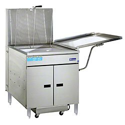 Pitco 24RUFM Floor Model Gas Donut Fryer 117 lb Oil Capacity w/ Built In Filter