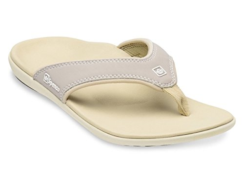 Spenco Women's PolySorb Yumi Nubuck Sandals - Size 6, Stone ()