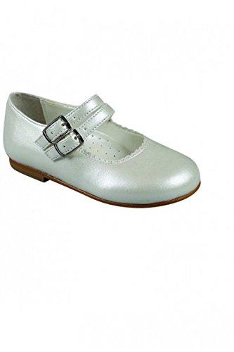 duales únicos sin blanquear zapatos de la correa de cuero marrón de ba blanco