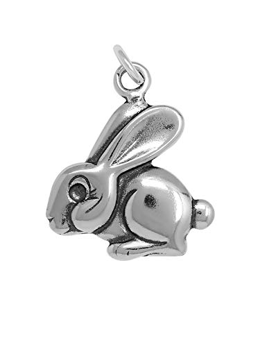 (Raposa Elegance Sterling Silver Rabbit Charm (approximately 18.5 mm x 18 mm))