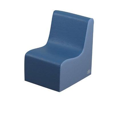 Cozy Woodland Contour Kids Chair Color: Deep Water/Sky Blue, Size: 15''H x 15''W x 12''D