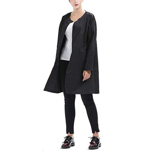 Coat Lunga Baggy Giacche Breasted Vintage Collo Donna Eleganti Autunno Giacca Schwarz Casual Manica Primaverile Rotondo Single Cappotto Targogo Outerwear Abbigliamento Moda qwTHgZt7x